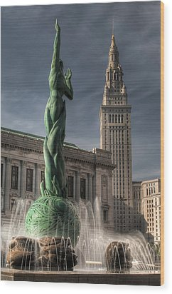 The Fountain Of Eternal Life Wood Print by At Lands End Photography