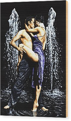 The Fountain Of Tango Wood Print by Richard Young