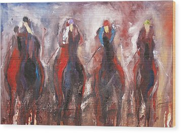 The Four Horsemen Wood Print by John Jr Gholson