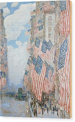 The Fourth Of July Wood Print by Childe Hassam