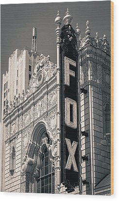 The Fox Wood Print