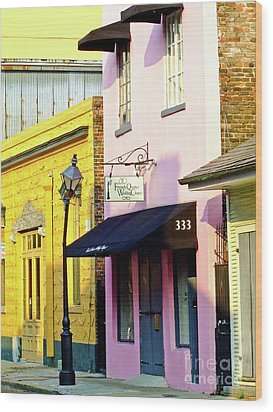 The French Quarter Wedding Chapel Wood Print
