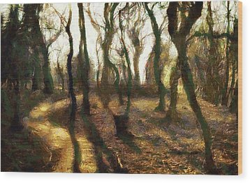 The Frightening Forest Wood Print by Gun Legler
