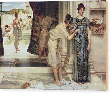 The Frigidarium Wood Print by Sir Lawrence Alma-Tadema