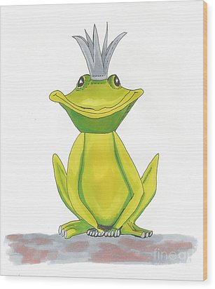 The Frog King Wood Print by Isabel Proffit