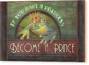 The Frog Prince Wood Print by Joel Payne