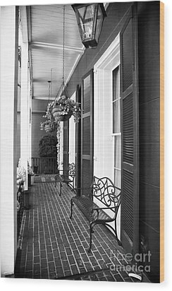 The Front Porch Wood Print by John Rizzuto