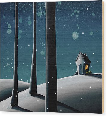 The Frost Wood Print by Cindy Thornton