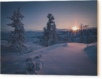The Frozen Dance Wood Print by Edgars Erglis