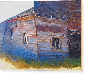 Wood Print featuring the photograph The Garage by Susan Kinney