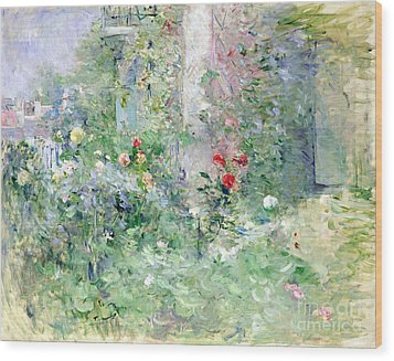 The Garden At Bougival Wood Print by Berthe Morisot