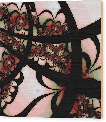 The Garden Gate Wood Print by Bonnie Bruno