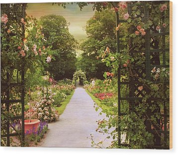 Wood Print featuring the photograph The Garden Gate by Jessica Jenney