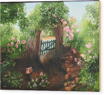 The Garden Gate Wood Print