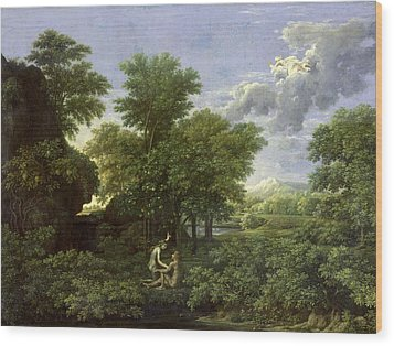 The Garden Of Eden Wood Print by Nicolas Poussin