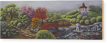 The Garden Of Koan Wood Print by Laurie Golden