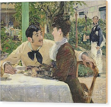 The Garden Of Pere Lathuille Wood Print by Edouard Manet