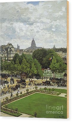 The Garden Of The Princess Wood Print by Monet
