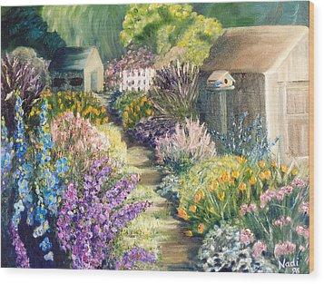 The Garden Path Wood Print by Renate Nadi Wesley