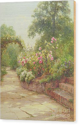 The Garden Steps   Wood Print by Ernest Walbourn
