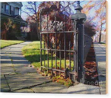 The Gate Wood Print by Betsy Zimmerli