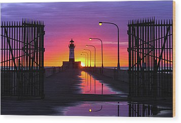 Wood Print featuring the photograph The Gates Of Dawn by Mary Amerman