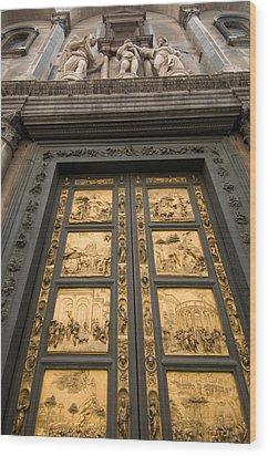 The Gates Of Paradise Doors Wood Print by Joel Sartore