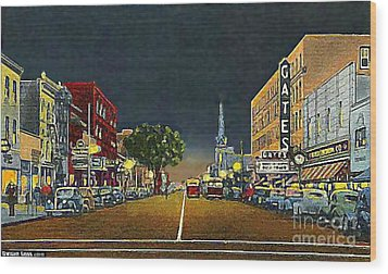 The Gates Theatre In Portsmouth Va In 1946 Wood Print