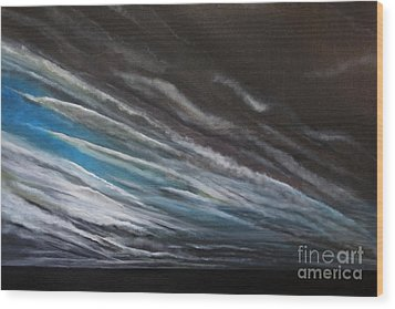 The Gathering Storm Wood Print by Paul Horton