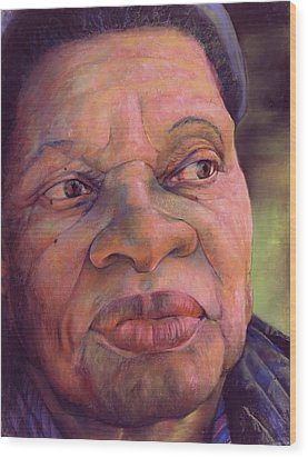 The Gaze Of Mother Witt Wood Print by Curtis James