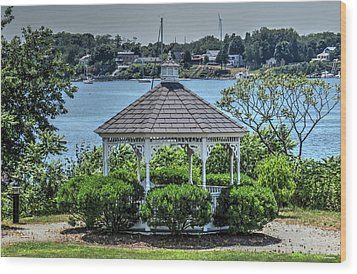 Wood Print featuring the photograph The Gazebo by Tom Prendergast
