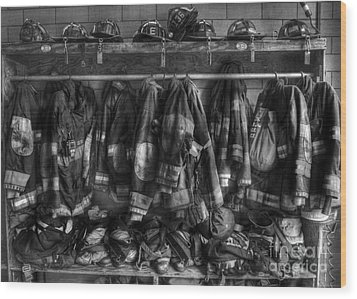 The Gear Of Heroes - Firemen - Fire Station Wood Print