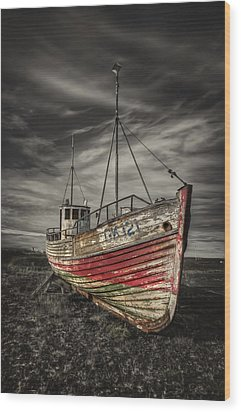 The Ghost Ship Wood Print by Evelina Kremsdorf