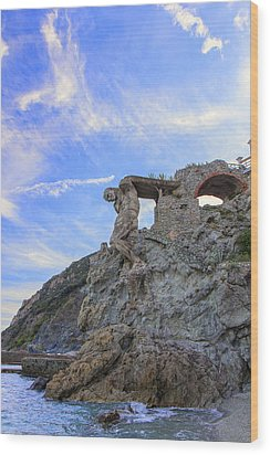 The Giant Of Monterosso Wood Print