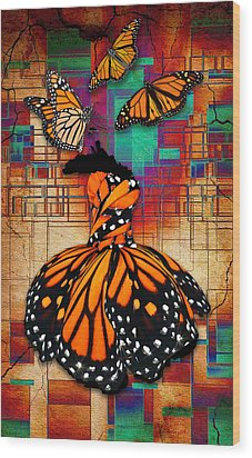 Wood Print featuring the mixed media The Gift Of Life by Marvin Blaine