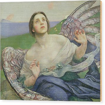 The Gift Of Sight Wood Print by Annie Louisa Swynnerton