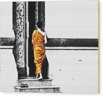Wood Print featuring the photograph The Gilded Monk by Cameron Wood