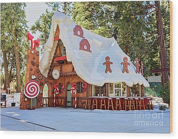 The Gingerbread House Wood Print by Eddie Yerkish