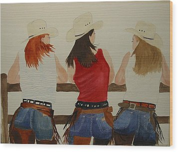 The Girls Wood Print