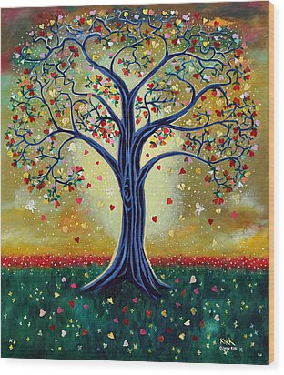 The Giving Tree Wood Print by Jerry Kirk