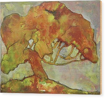 The Giving Tree Wood Print by Terry Honstead