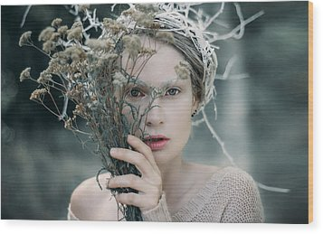 The Glance. Prickle Tenderness Wood Print by Inna Mosina