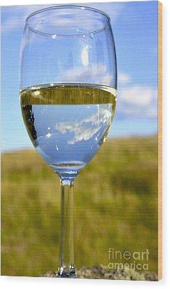 The Glass Is Half Full Wood Print by Thomas R Fletcher