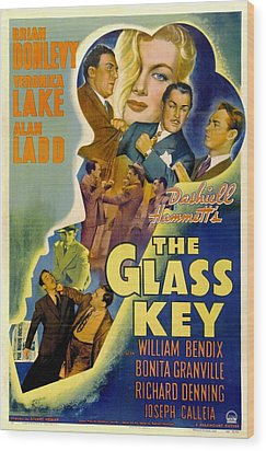 The Glass Key, William Bendix, Veronica Wood Print by Everett