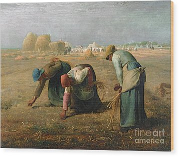 The Gleaners Wood Print by Jean Francois Millet