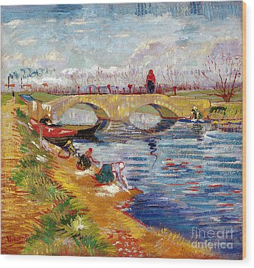 The Gleize Bridge Over The Vigneyret Canal  Wood Print by Vincent van Gogh