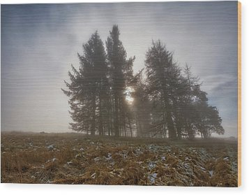 Wood Print featuring the photograph The Gloomy Sunrise by Jeremy Lavender Photography