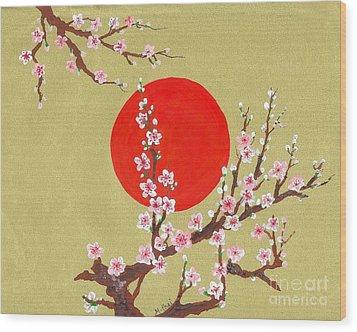 The Glory Morning Sakura Wood Print by Renu Martin