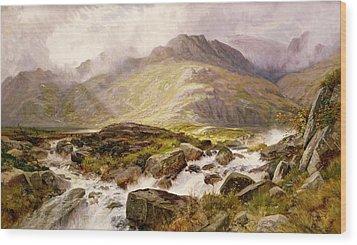The Glyder Fawr  Wood Print by Edwin Pettitt