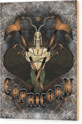 The Goat Capricorn Spirit Wood Print